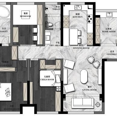设计师自己的家,红与黑的冲突视觉_1590370425_4154038