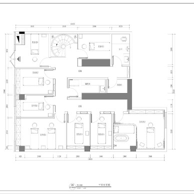现代小清新美容院 被这个旋转楼梯点亮_4162353