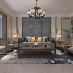 150m²新中式风格设计 陈超设计_1591155410_4163057