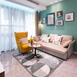 三居室彩色北歐風,空間利用最大化_1591250105_4164227