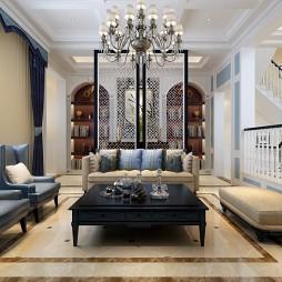 吉林别墅400平现代美式设计_1591777083_4170410