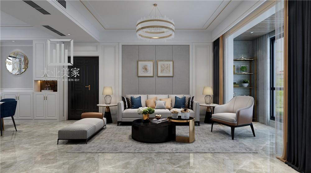 融创中心127平现代简约风格案例赏析客厅现代简约客厅设计图片赏析