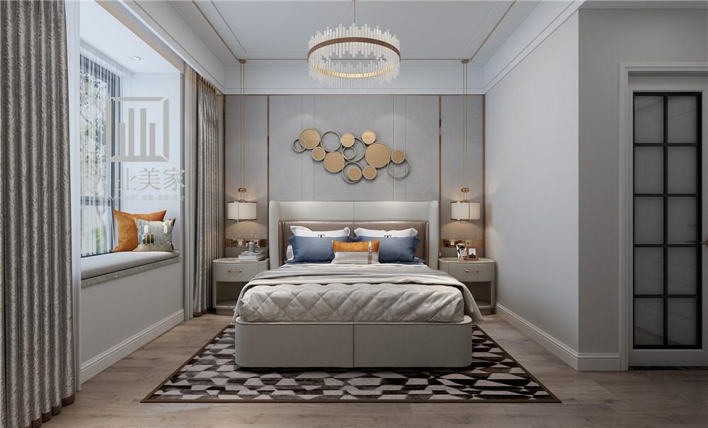 融创中心127平现代简约风格案例赏析卧室现代简约卧室设计图片赏析