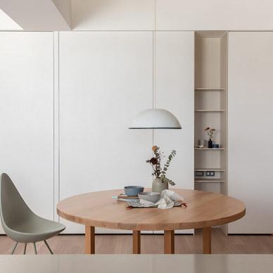 白色与木质内饰碰撞一简单舒适的家_1592290373_4175707