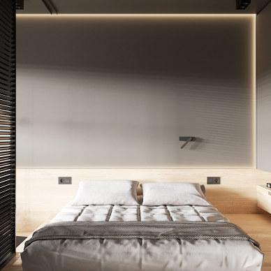 在现代极简注意工作室中创造舒适的居住空间_1592295364