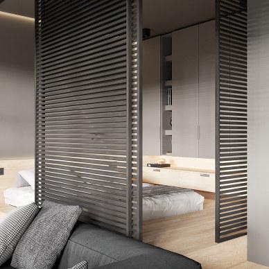 在现代极简注意工作室中创造舒适的居住空间_1592295364_4175896
