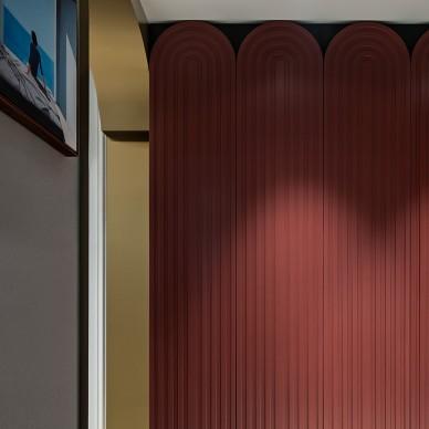 悦尔丨卧室改衣帽间,配色大胆又高级_1592542838