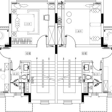 286平米别墅六房户型平面图2