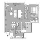 100平米三居室户型平面图