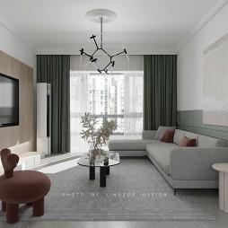 領作空間丨清新舒適的現代法式美宅_1593743251_4191860