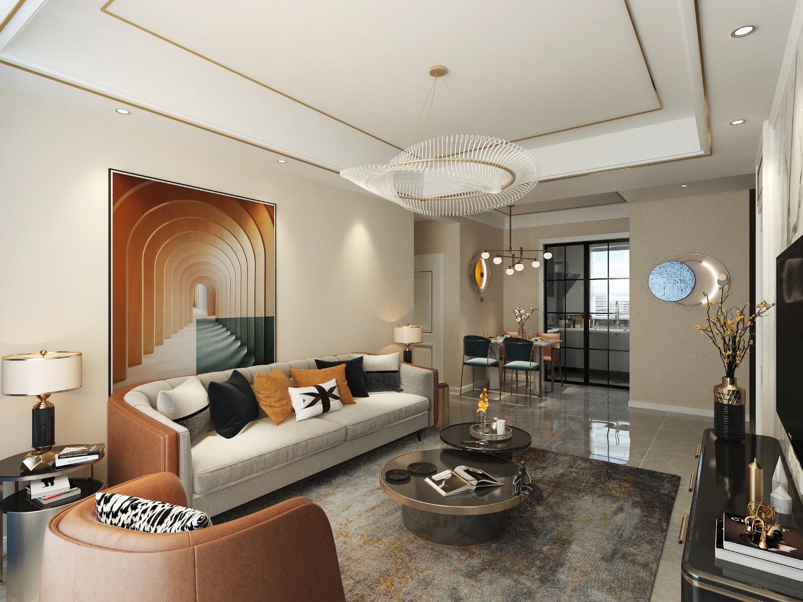后现代两居客厅现代简约客厅设计图片赏析