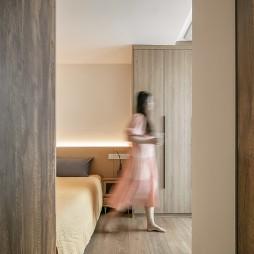一房改三房,原木质感的日式混搭_1593939324_4194265