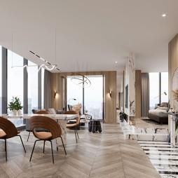 单身公寓样板间设计-户型A_1594178364_4196699