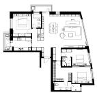 164平米三居室户型图