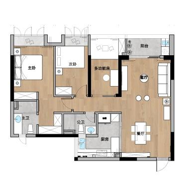平衡现代与复古感,让家拥有和谐的空间美学_1594604275_4202258