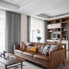客厅皮沙发效果图