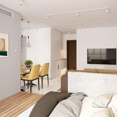 53平米一居室改两居经典案例_4205364