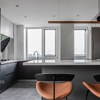 小居室开放式厨房装修效果图