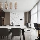 现代餐厅铺大理石地砖图片