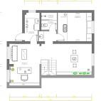 185平米四居室二层户型图