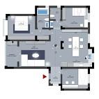 现代140平米三居室户型图