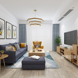 西子曼城105平现代风四室两厅装修效果图_1595727984_4214962