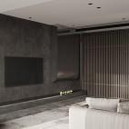 银灰色电视背景墙