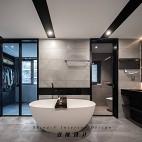 黑白灰卫生间设计图