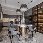 餐厅轻奢酒柜设计图片