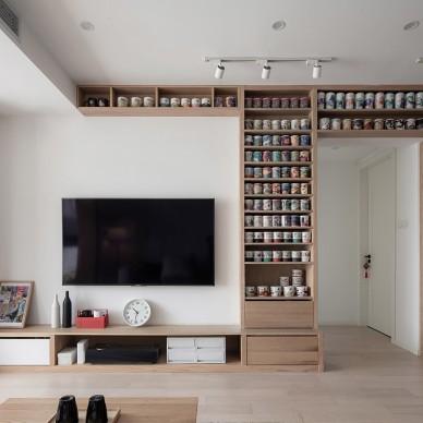 MUJI风客厅电视墙设计