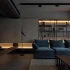 极简客厅置物架图片