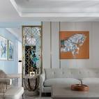 美式轻奢客厅设计效果图