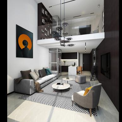 40 平米 黑白loft_1597807161_4237503