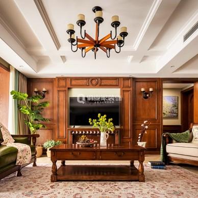 重庆江南融府4房美式风格装修设计案例作品_1598167174_4241324