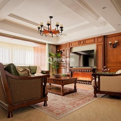重庆江南融府4房美式风格装修设计案例作品_1598167175_4241325