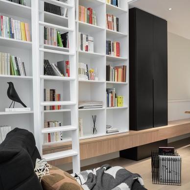 35平米的loft,客厅变图书馆_1598257457_4242032