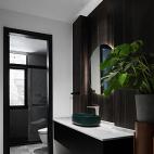 现代风卫生间洗手台设计图