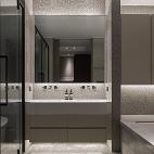 新中极简别墅卫生间洗手台设计