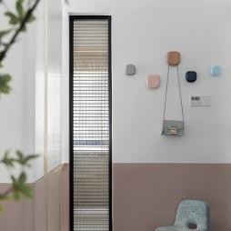 粉色玄关墙挂设计图