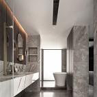 卫生间双人洗手台设计