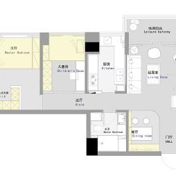 60平米二居室户型图