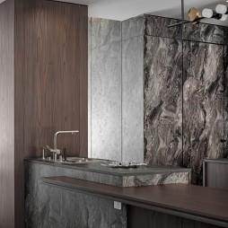 欧式轻奢风格厨房吧台图片