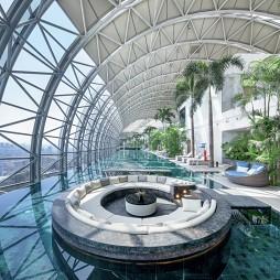 重庆来福士洲际酒店卡位设计图
