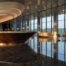 重庆来福士洲际酒店接待台设计