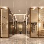 重庆来福士洲际酒店电梯间设计