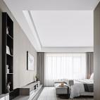 现代简约卧室吊顶装修效果图