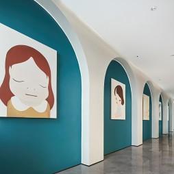 大华朗香公园里售楼处艺术走廊设计