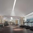 大东海新天地售楼部健身区设计