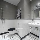 卫生间半墙隔断贴砖图