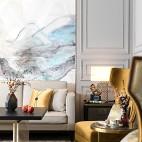 简约风格客厅背景画